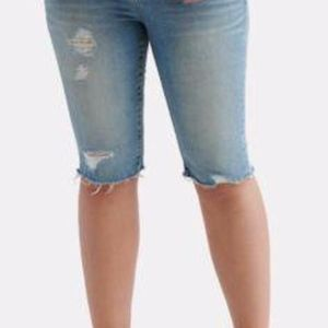 Lucky Brand Distressed Denim Ginger Bermuda Shorts